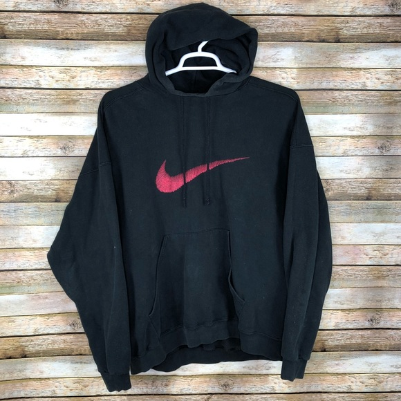 Sweatshirt Red Big Swoosh 90's Tag Nike Vintage 8P0nwOkX